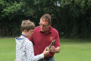 Horatio Yorke receiving his Roy Drage Most Promising U10 Player Award